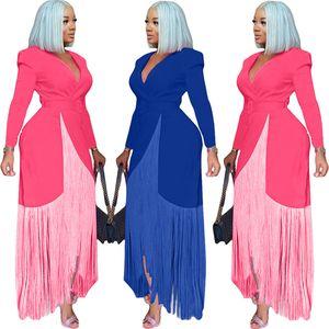 wholesale brand evening dresses long sleeve dress one piece set high quality slim dress sexy elegant luxury fashion women clothing klw5728