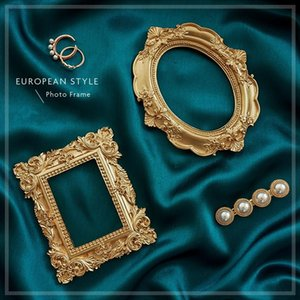 Golden Retro Photo Frame Nail Art Jewelry Decoration Home Decoration Photography Background Shooting Photo Props