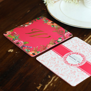 Hot Stamping Invitation Card Creative Bardian Greeting Cards Wedding Decorate Supplies Three Fracture Off Design More Color 1 15mhC1