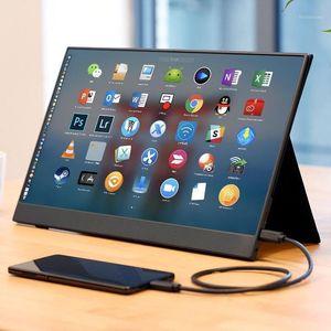 Moniteurs Cadeau Touch 15.6 pouces 4K moniteur portable / jeu LCD pour jeu, ordinateurs, ordinateurs portables, téléphones1