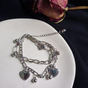 2021 Girls Dark Double Life Tree Love Heart Love Pearl Chain Temperane Bracelet Silvery beautiful bracelet individual character is tie-in