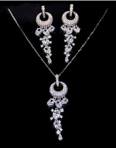 2020 new style The bride's bridesmaids for wedding will use ring rhinestone tassel jewelry set earrings necklace