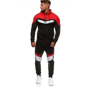 Men's Tracksuit Set 2020 Autumn Men New Fashion Sweatshirt Set Male Jogger Sportswear Suit Man Hoodies Pants Zipper Sports Suit