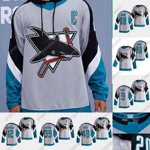 San Jose Sharks Brent Burns 2020 Reverse Retro Hockey Jersey Martin Jones Erik Karlsson Tim Heed Evander Kane Patrick Marleau Logan Couture