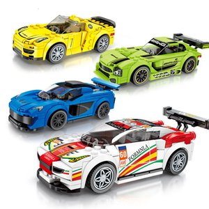 Hot Sale Racing building blocks children's small particles puzzle assembled sports car model toys children's gifts