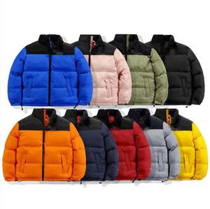 Moda para hombre Stylist Abrigo hojas impresión parka chaqueta de invierno hombres mujeres invierno pluma cubierta cubierta de abrigo abajo chaqueta de abrigo S-2XL JK005