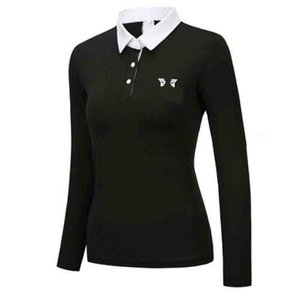New Ladies Golf Apparel Spring Autumn P Long Sleeve T-Shirt Fashion Leisure Sports Golf T-Shirt Free Shipping Q1201