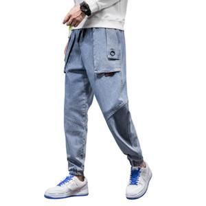 Pantalon de denim de coton décontracté de taille plus