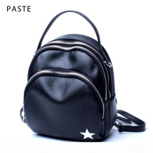2020 Multifunction Small Women's Backpack Genuine Leather Girl School Bag with 3 Straps Female Bagpack Preppy Style Daypack