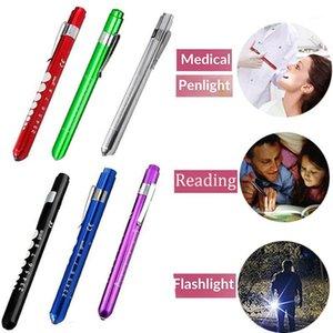 Фонарические светильники горелки 1 шт. Многоразовый светодиодный навес с учеником калибровочный карманный зажим ручка легкая факел для медсестер врачей читает1