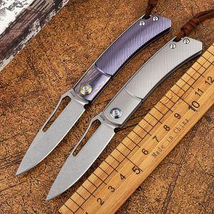 OEM folding knife M390 blade TC4 titanium alloy handle outdoor tactical defense hunting camping ladies fruit EDC tool knife