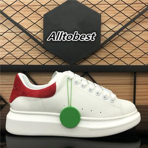 Top Quality Mens Womens Velet Velet Back Platform Sneakers White Genuine Cuero Entrenadores Comfort Pretty Girl Luxury Designer Casual Shoes
