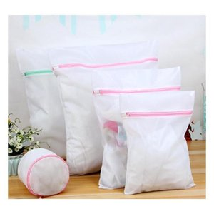 5pcs mesh laundry bags s m l xl bags & 1 bra bags laundry blouse hosiery stocking underwear washing care bra lingerie travel laundry