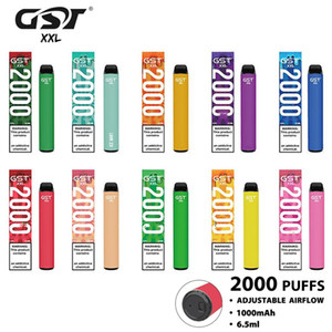 100% Authentic GST XXL Dispositivo di pod monouso VAPE PEN 2000 SFULDS 1000 MAH 6ML Capacità Capacità VAPE PEN DA PEN