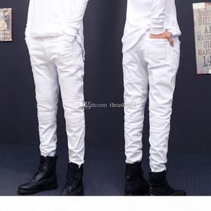 New Mens Jeans Fashion Distressed Zipper Ripped Jeans Mens Skinny Biker Pants Hip Hop Pants