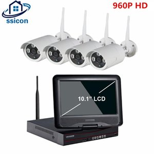 "Wireless NVR Kit 10.1 ""شاشة LCD شاشة لاسلكية NVR CCTV نظام 1.3MP في الهواء الطلق IP WIFI كاميرا مراقبة الأمن مجموعة"