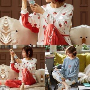 Algodão Pijamas Kimono Summer Spring Setlounge Luxo para desenhista Night V-Neck Oilers Pajamas Imprimir Sleepwear Pijamas Use PJS Mulheres Terno