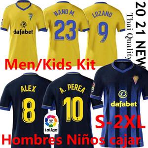 2020 2021 كاديز لكرة القدم الفانيلة Cádiz CF Camisetas de Fútbol 20 21 Lozano Alex Bodiger Juan Cala Camiseta La Liga Men Kids Kit كرة القدم