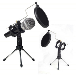PS - 05 Microfono Adjustable Studio Condenser Stand Desktop Tripod For Mic Microphone Holder With Windscreen Filter Cover