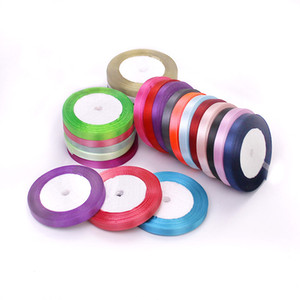 1cm Silk Satin Ribbon for Wedding Party Decoration Invitation Card Gift Wrapping Scrapbooking Supplies Riband Sew Craft