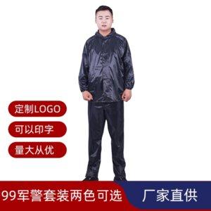 Zchgq regular 99police terno única camada com tira reflexiva ao ar livre tira reflexiva protetor de trabalho de protecção de inundação adulto capa de chuva