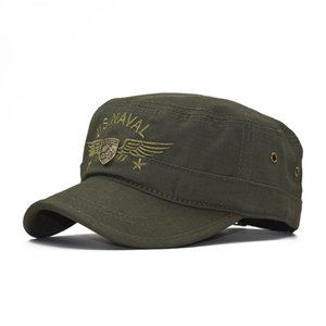 Camouflage flat hat military fan hat embroidery USNAVAL baseball hat male summer
