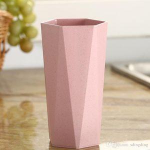 Diseño simple trigo paja geométrica cepillado cepillado forma diamante forma de comida taza taza desayuno café leche trigo taza mar mario envío OWE3062