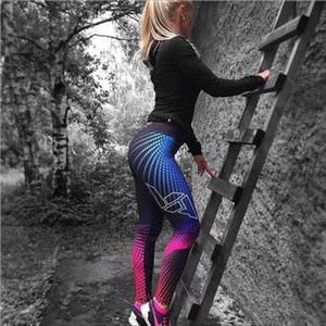 Mesh Pattern Print Leggings fitness Leggings For Women Sporting Workout Leggins Elastic Slim Black Jeggings White Pants 5045