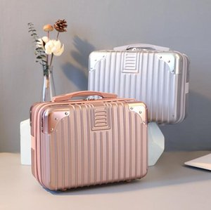 New Style Suitcase Women Small Makeup Bag Light Portable Travel Bag Mini Cute Lady Cosmetic Handbag