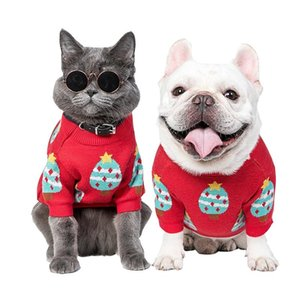 Christmas clothes dog sweater chihuahua cat dog clothes winter pet for small dogs designer