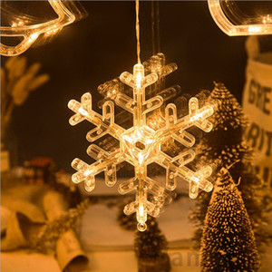 LED Christmas Light string suction cup hanging lamp Star string lights window room decoration lights Bells Snowflake Tree 100pcs T1I3069