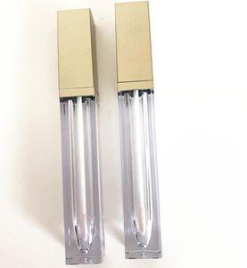 6ml Empty Lip Gloss Tube Gold Black Fashion Lipstick Lipgloss Tubes Bottles Women Make Up Packing Container OWD3165