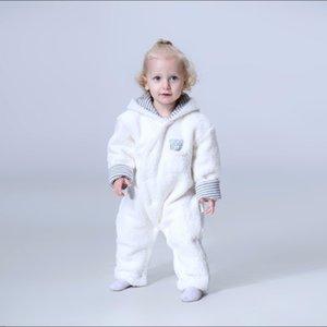 OrangeMom Store Official Baby Girl Ropa de cordero suave Cashmere Fleece Baby Mamper, Una pieza Bebé Ropa Infantil Recién nacido Y1221