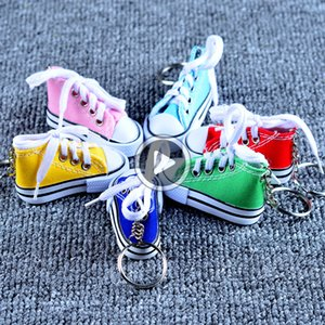 Fashion Cute Sport Shoes Keyring Mini 3D Sneaker Canvas Shoes Keychain Tennis Shoe Chucks For Unisex Jewelry