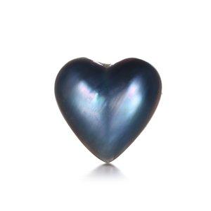 14/18 mm forma de corazón Liso Natural Mar Anillo de perlas Cabochon Un Grado Azul / Pink / Blanco Pearl Cabochon Beads para la fabricación de joyas T200507