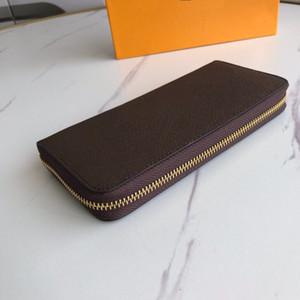 Portefeuille Clemence محفظة جودة عالية المرأة lconic موضة طويلة محفظة عملة محفظة بطاقة حالة حامل للماء قماش مع هدية مربع 60742