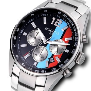 2020 luxury mens watches 41mm Chronograph Multifunctional stainless steel quartz men's watch Super luminous deep waterproof montre de luxe