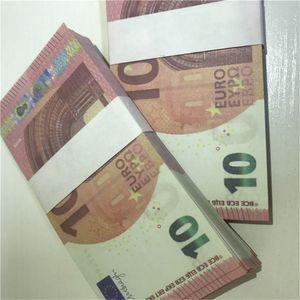 Hot Faux 10 Billete de billetes Copia Barra de juguete Moneda Props Props Billet Realista Prop Noofeit LE10-50 EURO RVKWL JBBTC