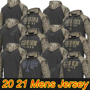 NCAA Michigan Volverines Penn State Nittany Lions Alabama Crimson Tide Мужчины Толстовка Salute для обслуживания Sideline Camo Pullover Hoodie Jersey