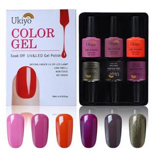 Ukiyo 10ML UV Gel Nail Polish Soak Off 6 pieces lot Gel Polish With Gift Box Semi Permanent Nail Art Design Hybrid Varnishes