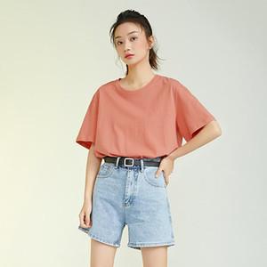 Tops camiseta mulheres laranja manga curta tshirt mulheres senhora