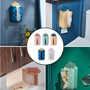 40# Upside Down Paper Towel Box Multifunctional Wall-Mounted Wet Tissue Box Living Room Household Kitchen Napkin Tube Paper