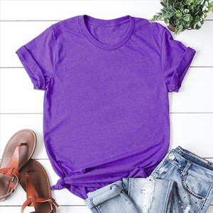 2019 Summer New Plus Size Solid Color Short Sleeve purple T Shirt Men Women Tops S M L XL XXL XXXL