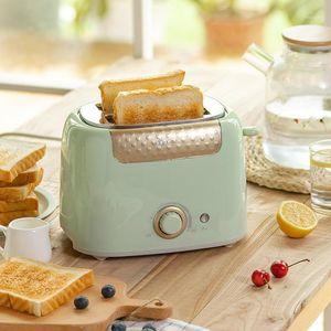 Хлебные производители бытовой тостер с 2 ломтиками слота автомат теплый многофункциональный завтрак для выпечки для завтрака 680W Тост Maker 220V1
