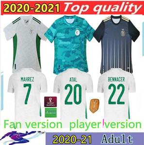 2020 Argélia Mahrez Futebol Jerseys Argélia 20 21 Atal Feghouli Slimani Brahimi Home Bennacer Homens Football Shirts Versão do jogador