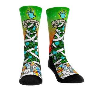 New Design Unisex women men Socks kids lovely cute cartoon style Fashion Cotton Printing Tube Socks floor christmas Xmas Sock