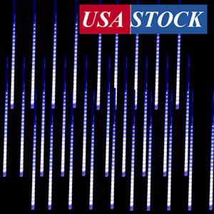 Luzes de decoração de chuva caindo, luzes de chá de meteoros levados à prova d'água, 50cm 10 tubo 480 LED Iicicle Snow Outono String Fada de Cascata