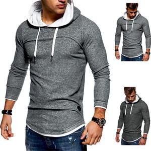 Designer Men Hoodies Winter Autumn Long Sleeve Hooded Sweatshirt Casual Solid Color Slim Streetstyle Man Clothing