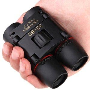 Portable Zoom Telescope 30x60 Mini Folding Pocket Binoculars 8x Binocular Outdoor Birdwatching Travel Hunting with Bag