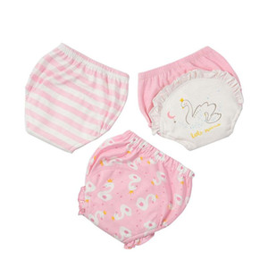 3pcs Lot Kids Diaper Absorbent Cloth Baby Training Pants Girls Boys Adjustable Washable Reusable Nappies Panties